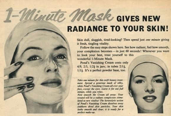 PondÕs 1954 1950s UK ponds vanishing cold cream skin care faces