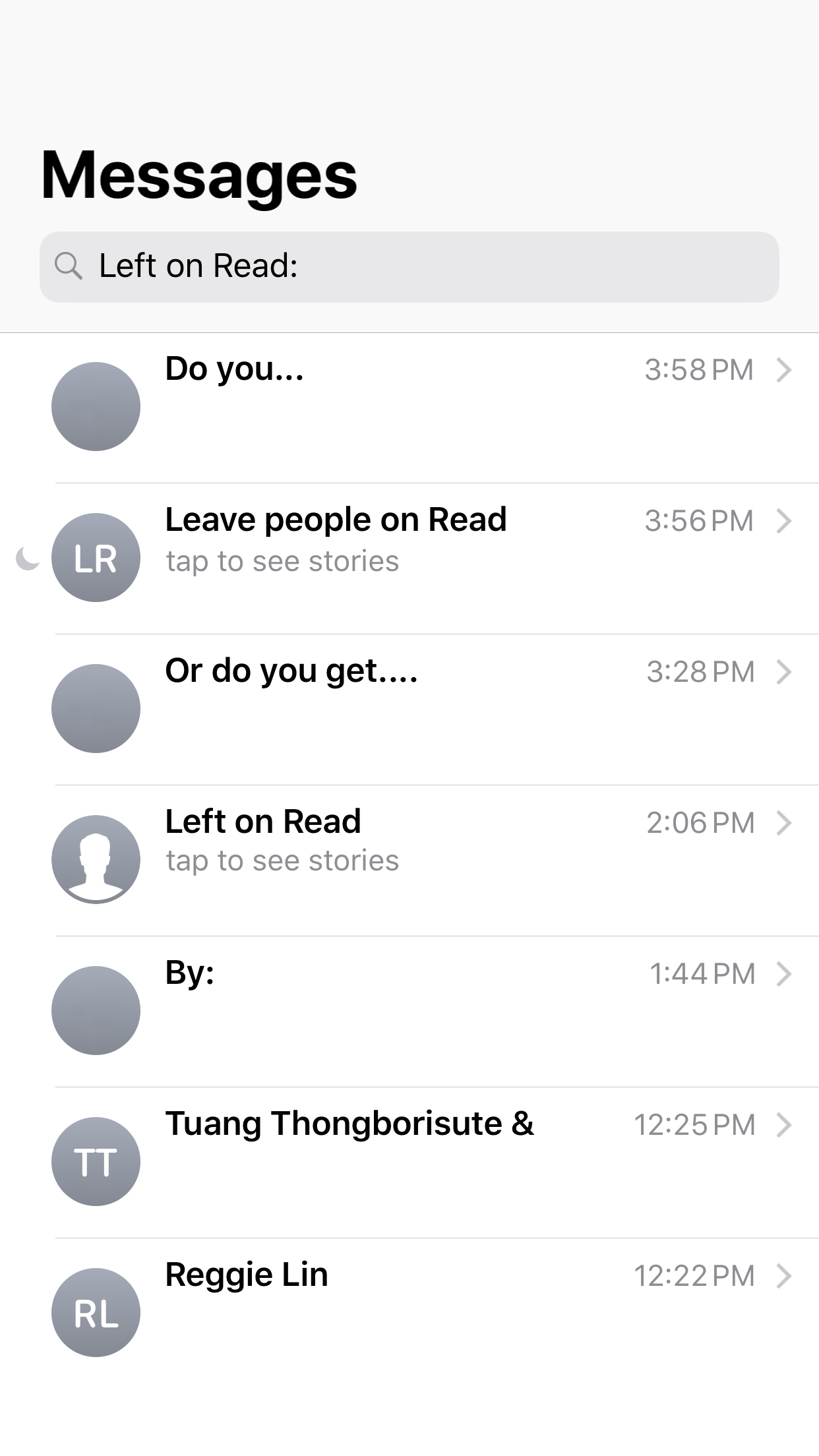 Left On Read Index